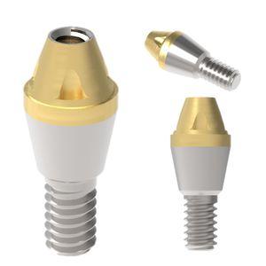 pilier implantaire droit / conique / en titane / interne