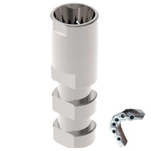 analogue d'implant dentaire en acier inoxydable