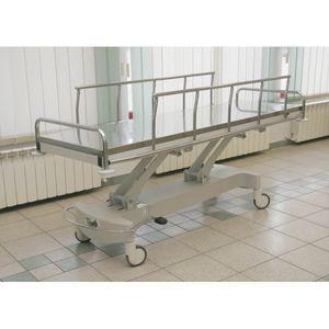 chariot brancard de transport / hydraulique / mortuaire / en inox