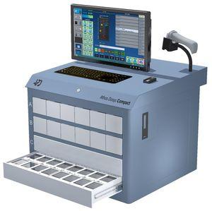 armoire automatisée de distribution de médicaments / pour pharmacie / de ravitaillement / avec ordinateur