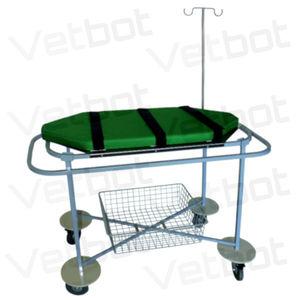 chariot brancard de transport / manuel / vétérinaire / à plateau amovible