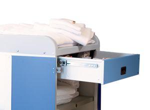 tiroir médical / pour chariot / en aluminium