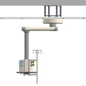 bras de distribution / plafonnier / d'anesthésie / à simple bras