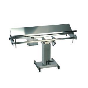 table chirurgicale vétérinaire / hydraulique / manuelle / à hauteur variable