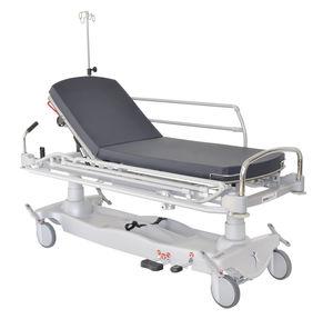 chariot brancard d'urgence / hydraulique / à hauteur variable / avec dossier réglable