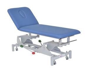 table d'examen hydraulique / à hauteur variable / sur roulettes / 2 plans