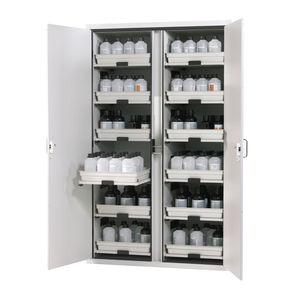 armoire de sécurité / pour liquide inflammable / pour acides / pour matières dangereuses