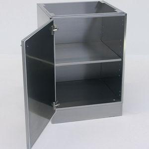 armoire pour bases / de laboratoire / avec porte battante / en acier inoxydable