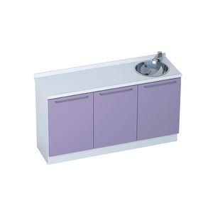 armoire pour cabinet médical / avec évier / modulaire / 3 modules