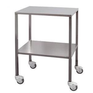 chariot de transport / pour instruments / 2 étagères / en acier inoxydable