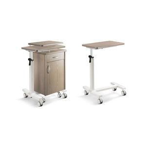armoire de chevet sur roulettes / avec table de lit séparée / avec compartiment réfrigéré