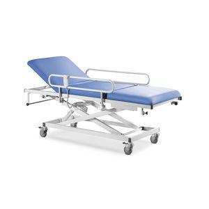 table d'examen d'endoscopie / électrique / sur roulettes / avec dossier réglable