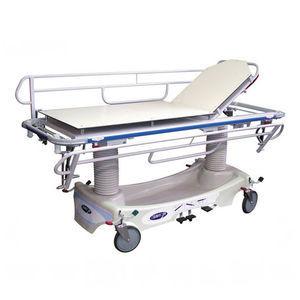 chariot brancard manuel / à hauteur variable / radiotransparent / de traumatologie