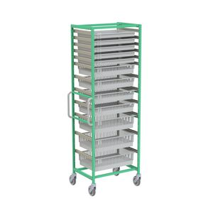 rayonnage modulaire / pour panier / en inox