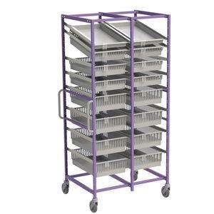 rayonnage modulaire / pour panier / à structure ouverte / en inox