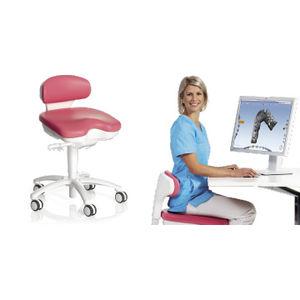 tabouret dentaire / à hauteur variable / basculant / avec dossier