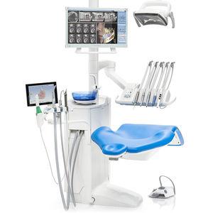 unité de soin dentaire avec éclairage / avec moniteur / compacte