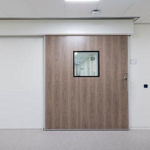 porte coulissante / pour service de radiologie / de soins intensifs / pour IRM