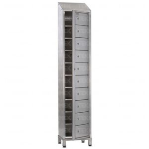 casier de stockage / à linge / d'hôpital / en acier inoxydable