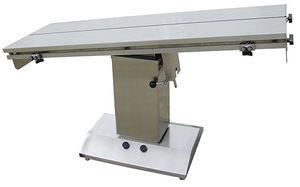 table chirurgicale vétérinaire / électrique / à hauteur variable / plateau en V