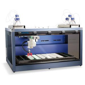 plateforme d'automatisation de laboratoire pour échantillonnage de gouttes de sang séché