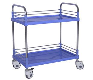 chariot à pansement / avec tiroir / 2 plateaux