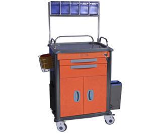 chariot d'anesthésie / avec porte / avec armoire / avec portique