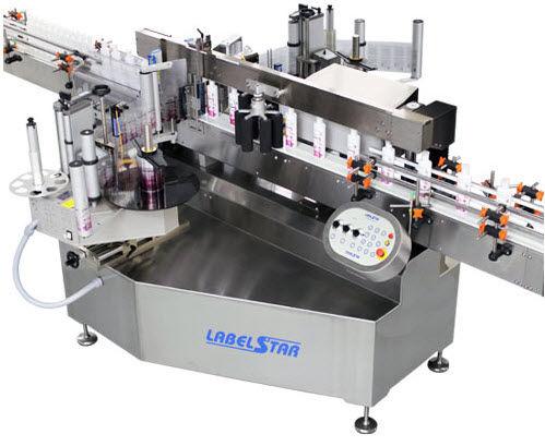 machine d'étiquetage de bouteilles / en ligne / à pression