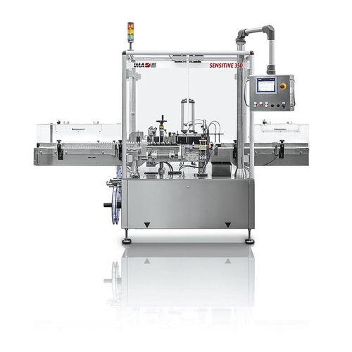 machine d'étiquetage pour flacon / pour l'industrie pharmaceutique / automatique / en ligne