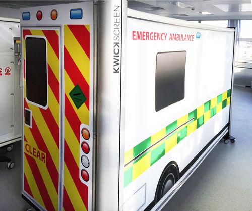 écran de simulation pour soins d'urgence - KwickScreen