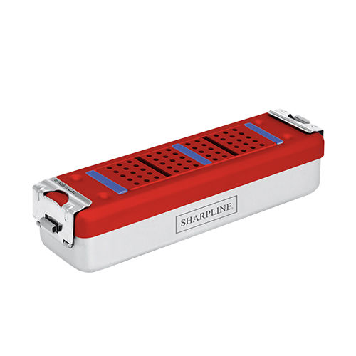 container de stérilisation pour instruments / pour endoscopes / avec filtre / en aluminium
