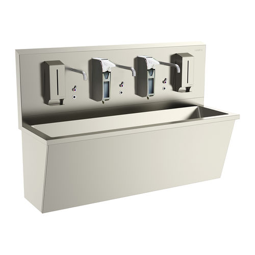 lavabo chirurgical 3 stations / en acier inoxydable