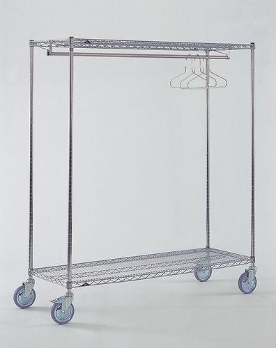 portoir de stockage / mobile / en acier inoxydable