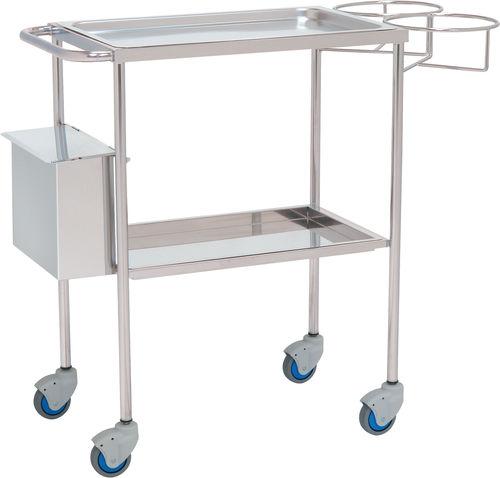 chariot multifonction / poubelle / avec porte-déchet / 2 plateaux