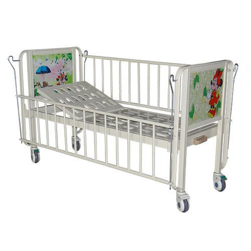 lit d'hôpital / manuel / à hauteur fixe / sur roulettes