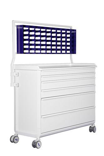 chariot de soins / à usage général / avec tiroir / avec porte-déchet