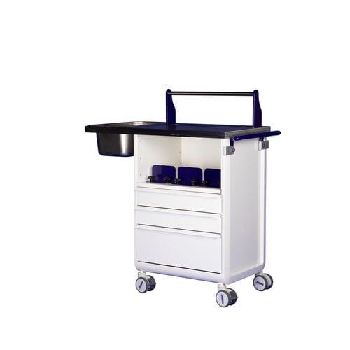 chariot à plâtre / avec tiroir / avec étagère / avec porte-cupule