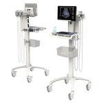 échographe portable, avec chariot / pour échographie en anesthésie et soins intensifs / pour échographie en soins urgentistes / noir et blanc