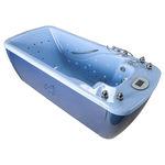 baignoire d'hydromassage avec lampes de chromathérapie