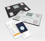 analyseur de composition corporelle pour mesure de la masse grasse / avec afficheur LCD / plateforme / Bluetooth