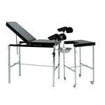 table d'examen gynécologique / manuelle / à hauteur variable / avec dossier réglable