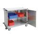 chariot chirurgical / de transport / pour articles stériles / avec porte