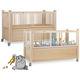 lit de soins à domicile / mécanique / pédiatrique / à hauteur réglable