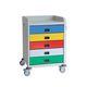 chariot de soins / à usage général / 5 tiroirs / médical