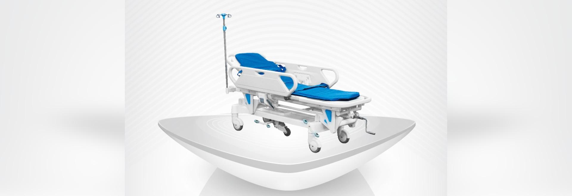 2016 civières manuelles de nouvel hôpital médical/CPR/meilleure vente confortable/chariot