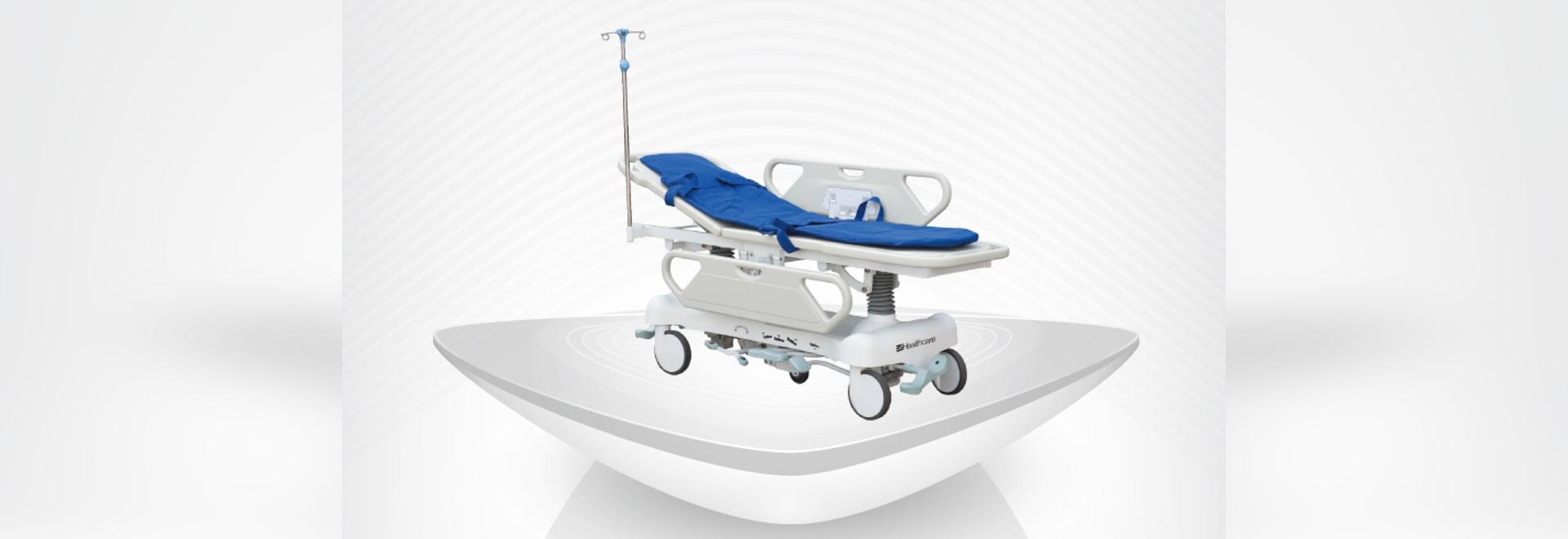 2016 nouvelles civières médicales de Hydaulic d'hôpital/Etats-Unis pompent/sping de chariots/gaz à transport/taille adjuestable/CPR