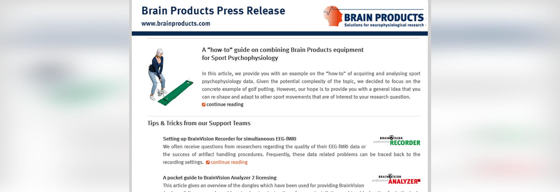 Communiqué de presse sur les produits cérébraux