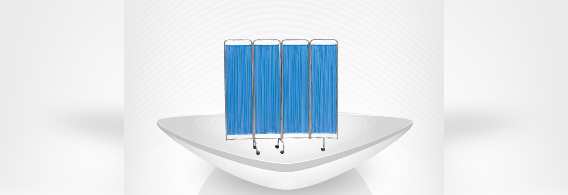 écran médical se pliant duarble pour l'écran de patient/acier inoxydable d'hôpital/meubles de chevet