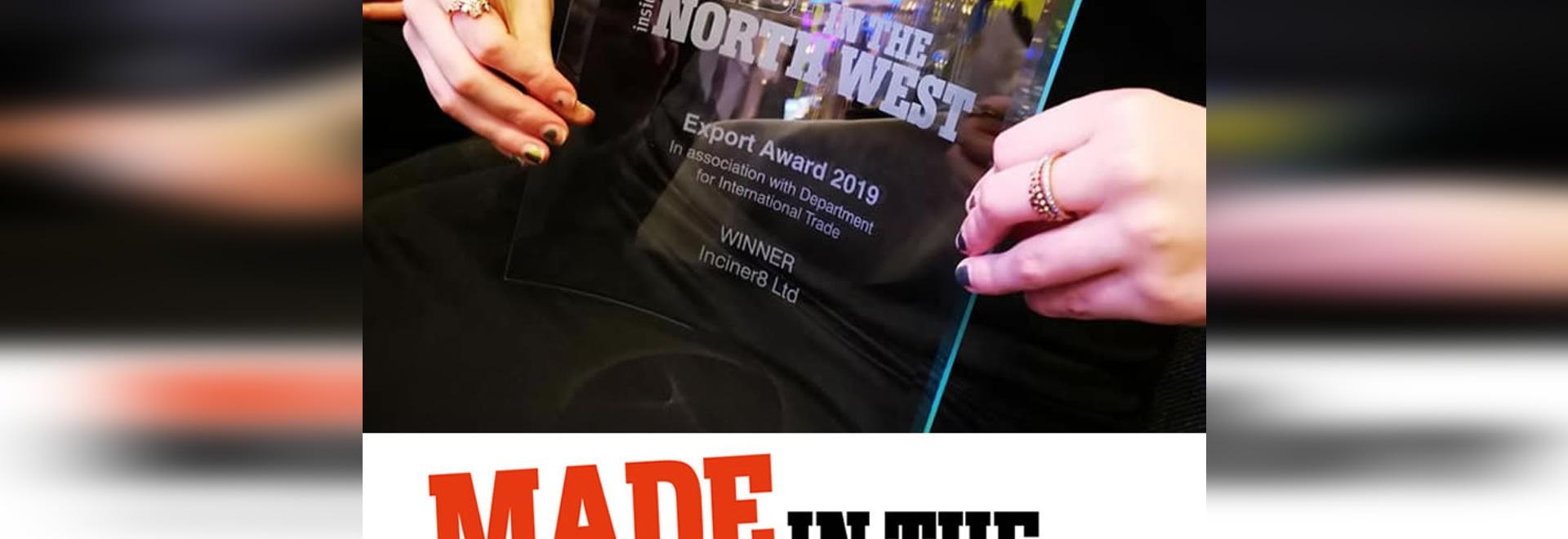 Inciner8 reconnu pour son excellence en matière d'exportation lors de la remise des prix de fabrication