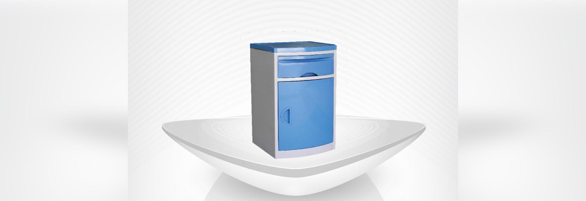 nouveau Cabinet de chevet d'hôpital/table de haute qualité/dinning d'ABS/avec le tiroir/pièce patiente